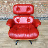 Red 2010s Herman Miller Eames Lounge Chair & Ottoman thumbnail