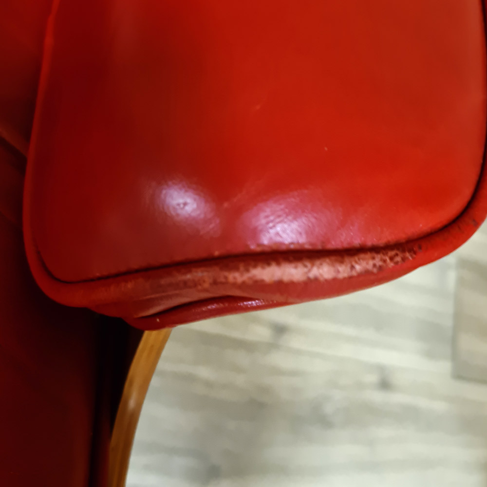Red 2010s Herman Miller Eames Lounge Chair & Ottoman