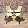 Parchment White Herman Miller Eames DSW Dowel Side thumbnail