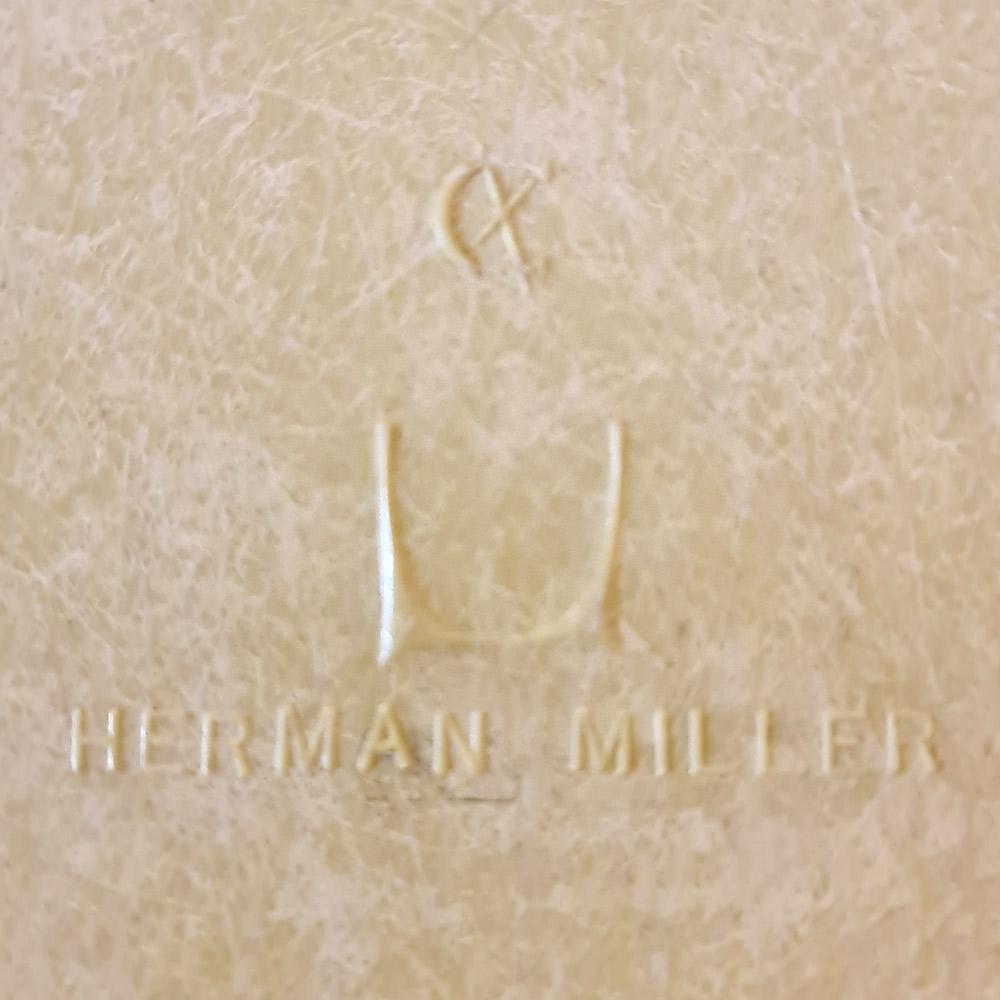 Parchment White Herman Miller Eames DSW Dowel Side