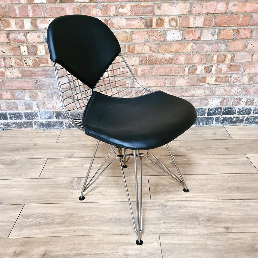 Black 2018 Herman Miller Eames DKR - Eiffel Wire Side