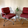 Crimson Red 1982 Herman Miller Eames Soft Pad low Back Side Chair thumbnail