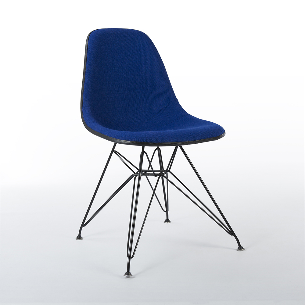 Navy Blue 1980s Herman Miller Eames DSR Eiffel Side