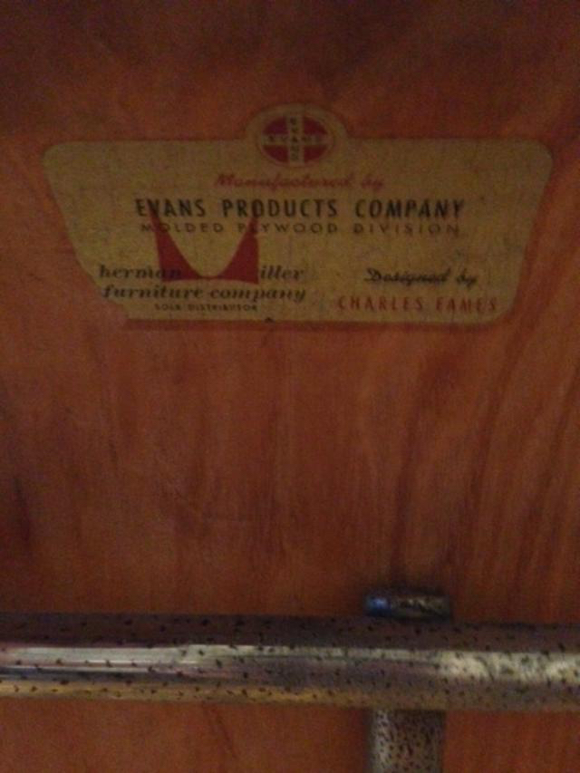 Wooden 1949 Evans Plywood Products Eames DSX (& Variants) Side