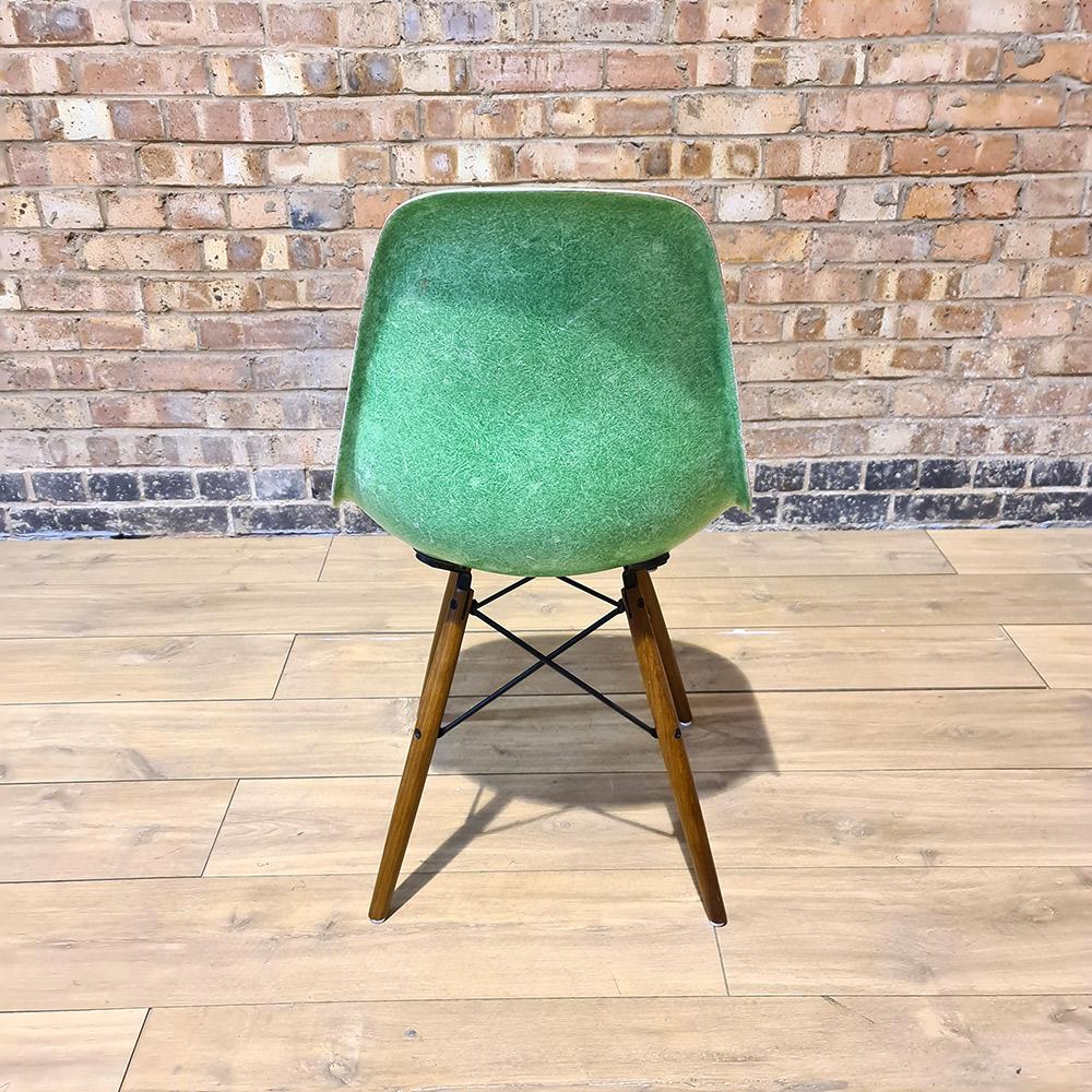 Cadmium Green 1970s Herman Miller Eames DSW Dowel Side