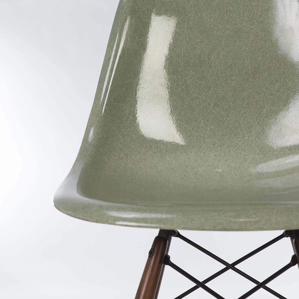 Sea Foam Green Herman Miller Eames DSW Dowel Side