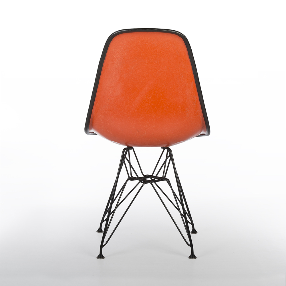 Orange 1960s Herman Miller Eames DSR Eiffel Side