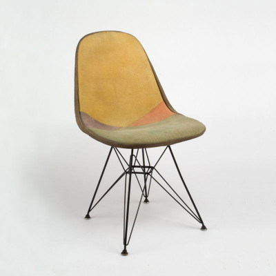 Early 1950's Eames DKR with Alexander Girard 'Harlequin' Upholstery