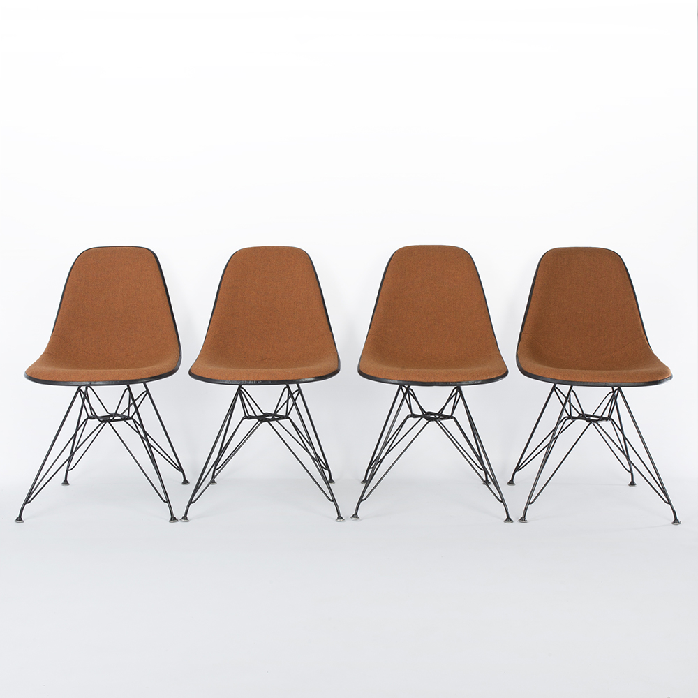 Orange 1960s Herman Miller Eames DSR Eiffel Side