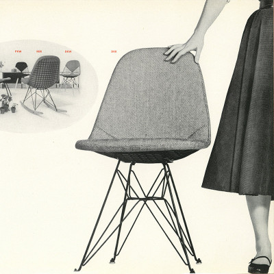 1952 Herman Miller Vintage Brochure Ad Showing DKR-1