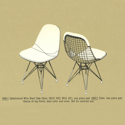 1964 Herman Miller Catalog DKR-1 and DKR-2 Specifications