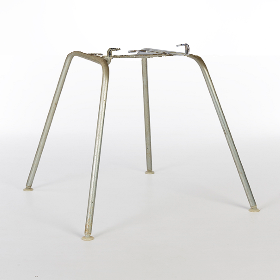 Silver Replacement 'H' Base for Eames Arm and Side Shell Chairs