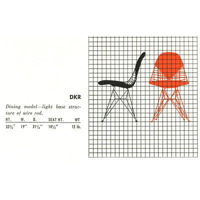 1952 Herman Miller Catalog Specs for DKR-1 and DKR-2