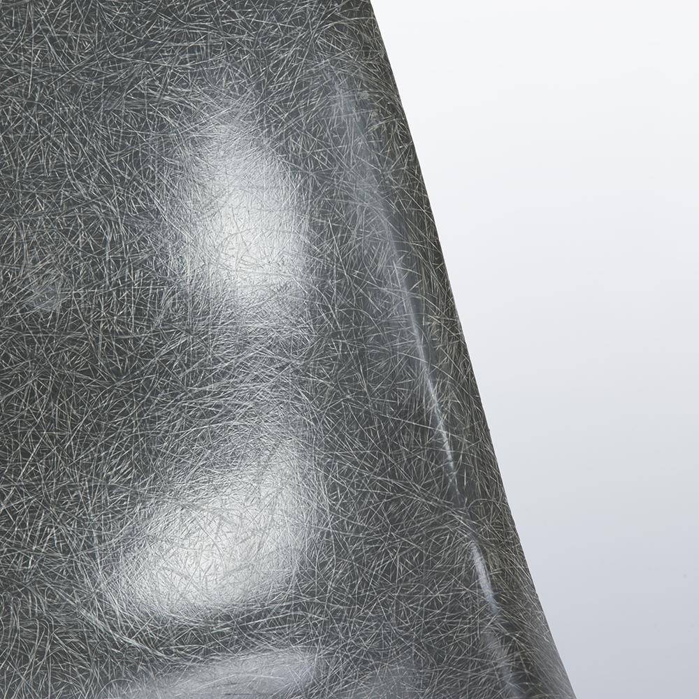 Elephant Hide Grey 1960s Herman Miller Eames DSW Dowel Side