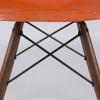 Red Orange 1960s Herman Miller Eames DSW Dowel Side thumbnail
