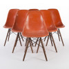 Red Orange 1960s Herman Miller Eames DSW Dowel Side thumbnail