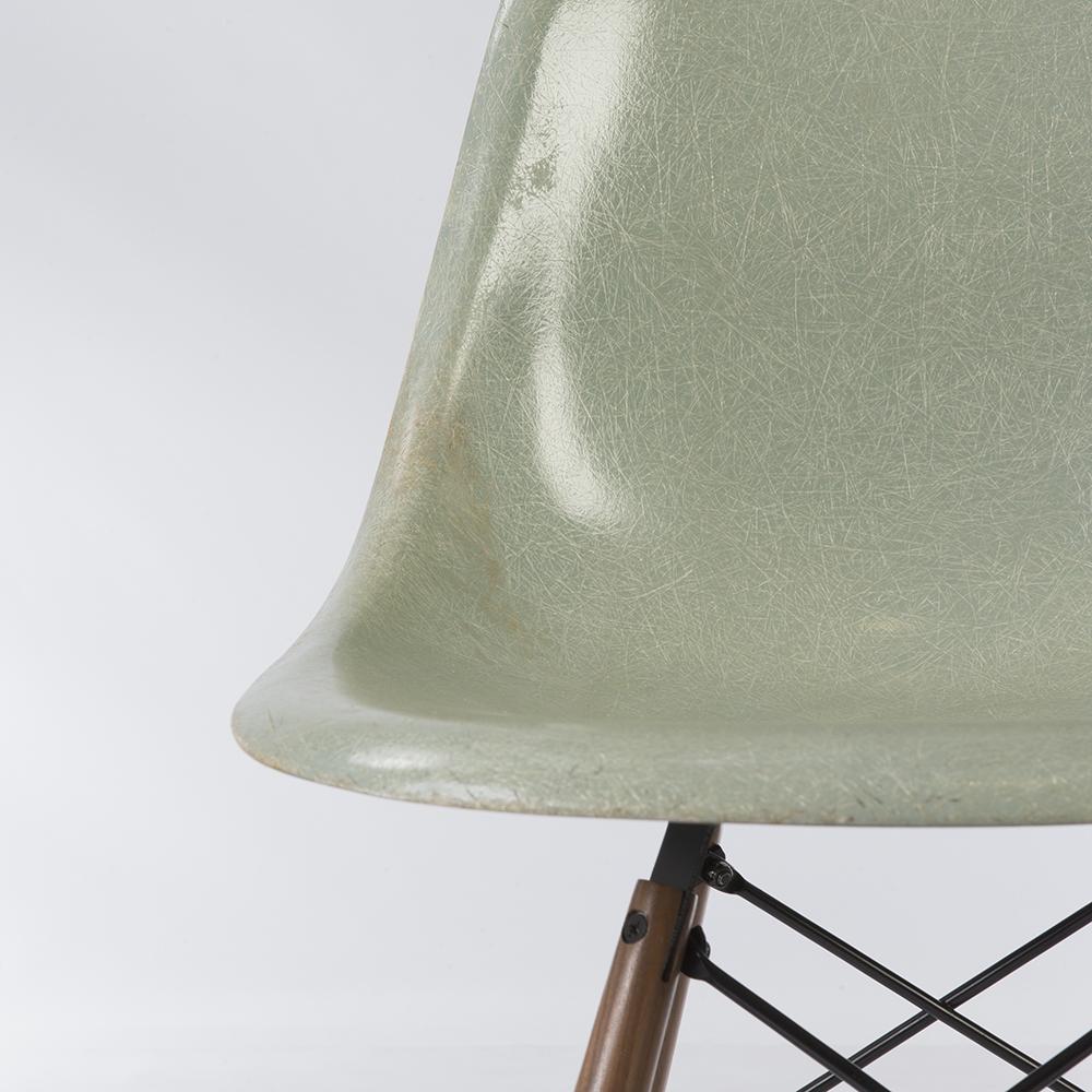 Sea Foam Green 1950s Herman Miller Eames DSW Dowel Side