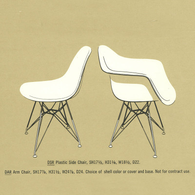 1964 Herman Miller catalog DSR specifications
