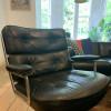 Black 1960s Herman Miller Eames Time Life Lounge Chair thumbnail