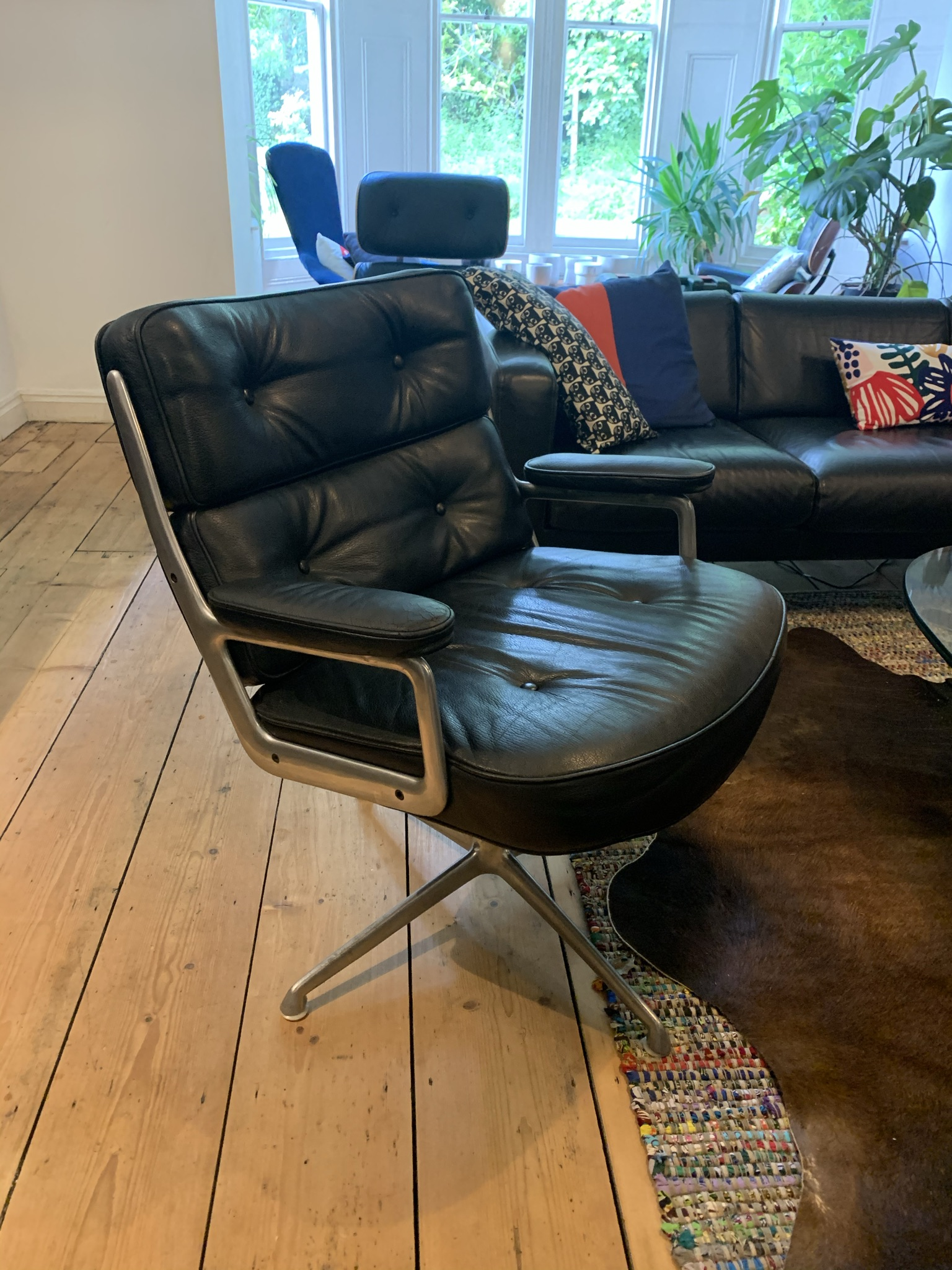 Black 1960s Herman Miller Eames Time Life Lounge Chair