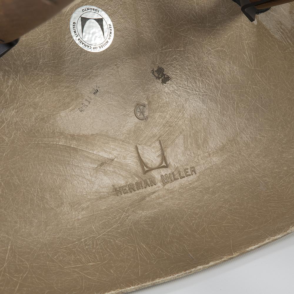 Tan Light Brown 1970s Herman Miller Eames DSW Dowel Side
