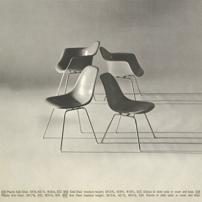1964 Herman Miller Catalog Showing DSX & MSX with sister arm chairs
