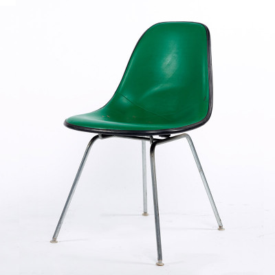 1970's Naugahyde upholstered Eames DSX side chair