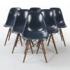 Navy Blue 1960s Herman Miller Eames DSW Dowel Side thumbnail