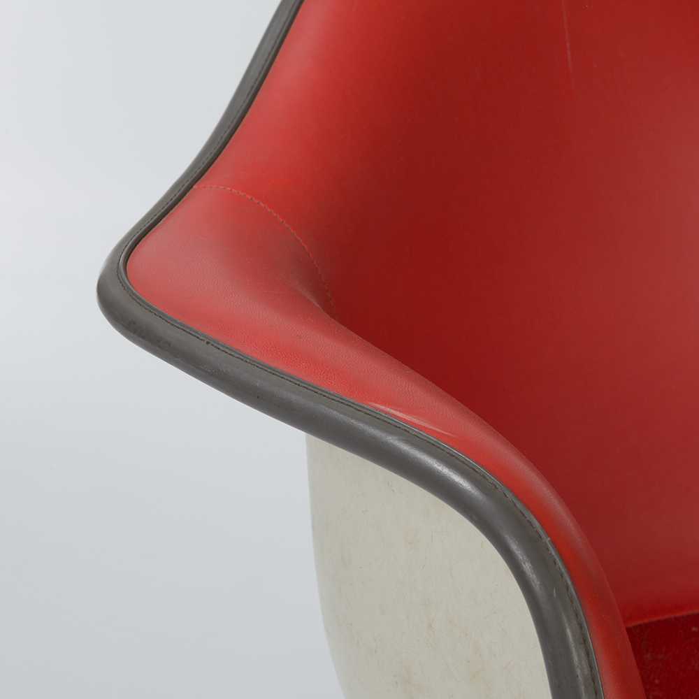 Red 1970s Herman Miller Eames RAR Rocking Arm