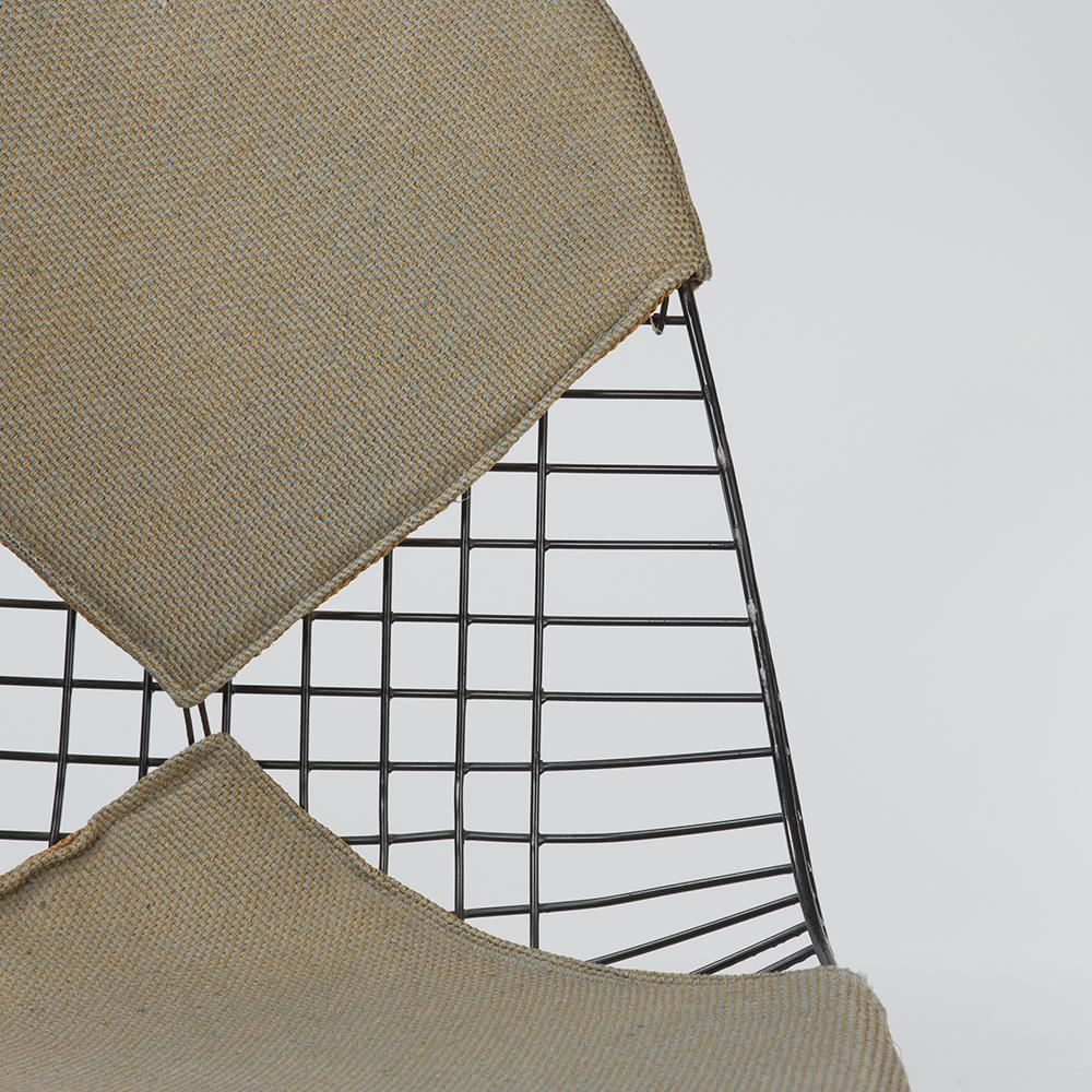 Beige Herman Miller Vintage Original Eames Black PKW-2 Wire Swivel Chair