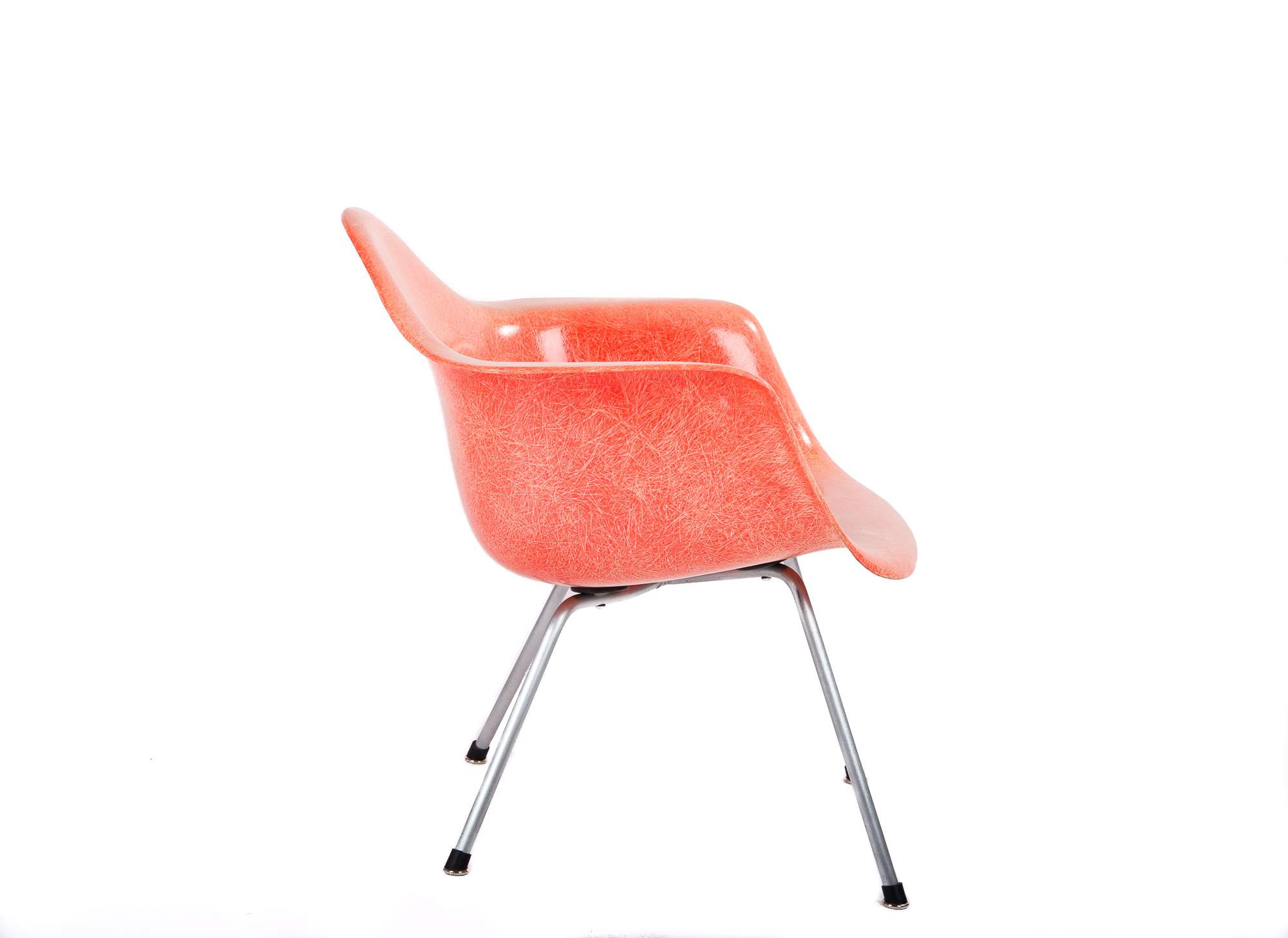 Red Orange 1953 Zenith Plastics Eames DAX (& Variants) Arm