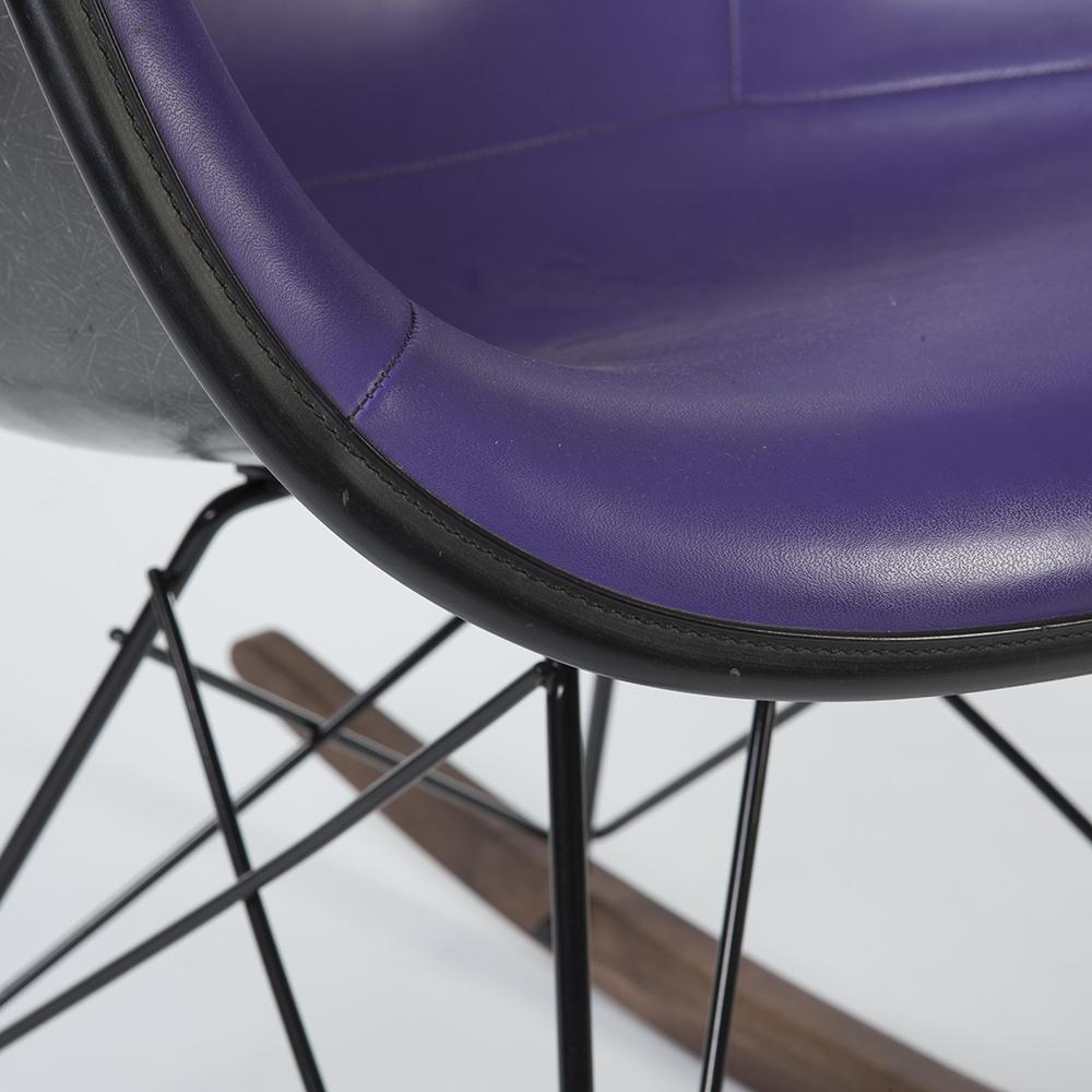 Purple 1960s Herman Miller Eames RAR Rocking Arm
