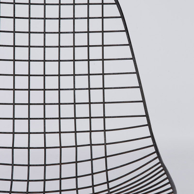 Wire mesh seat section close up view