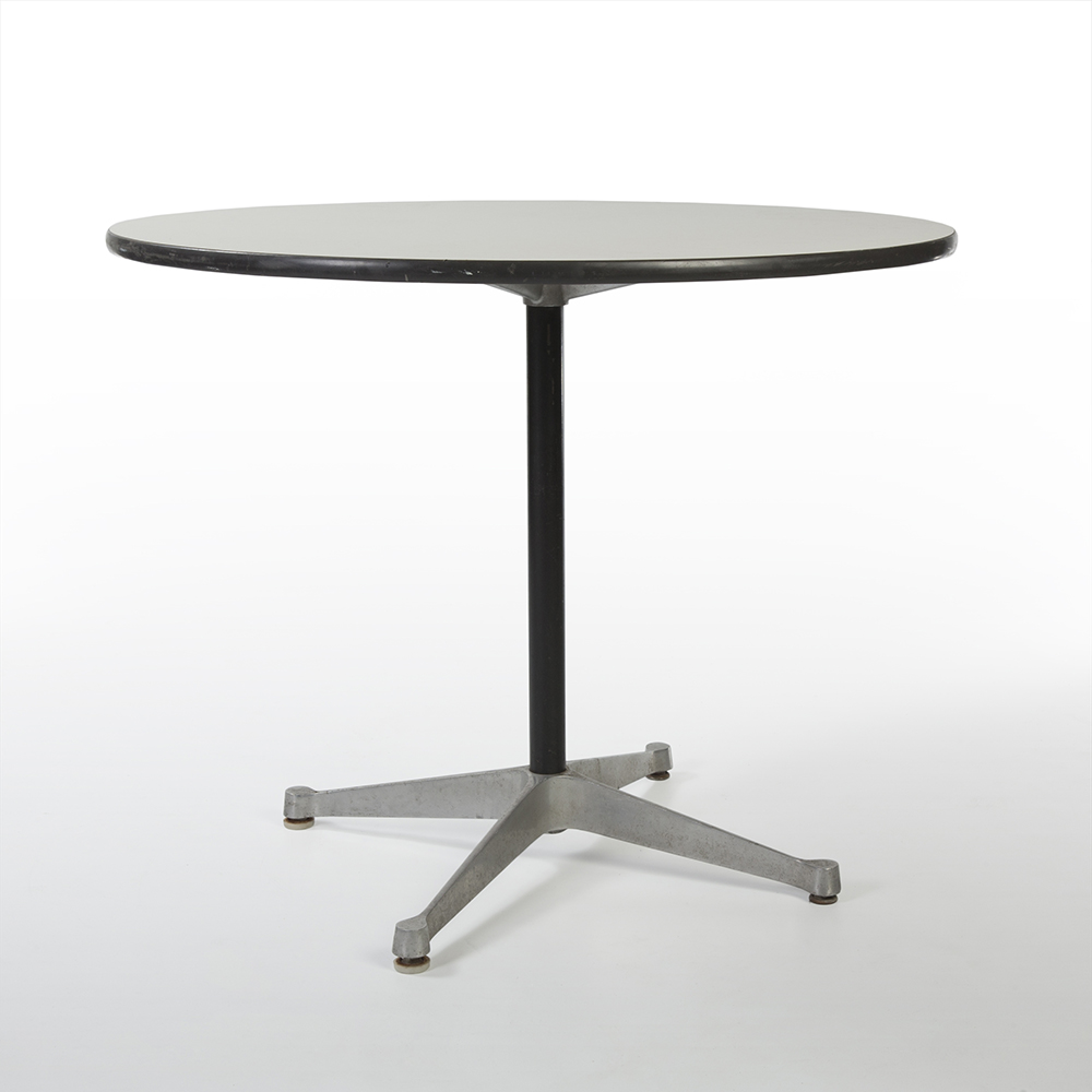White 1970s Herman Miller Eames Contract Base Dining Table Work Tables 1920 Eames Com