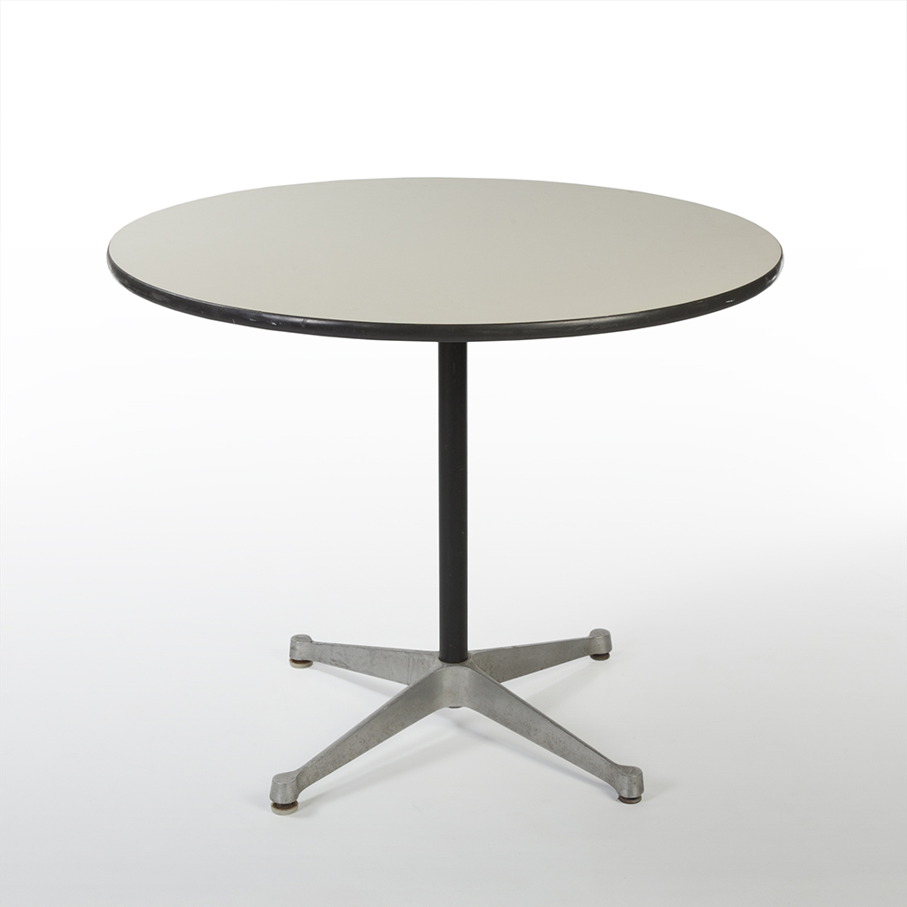 White 1970s Herman Miller Eames Contract Base Dining Table & Work Tables