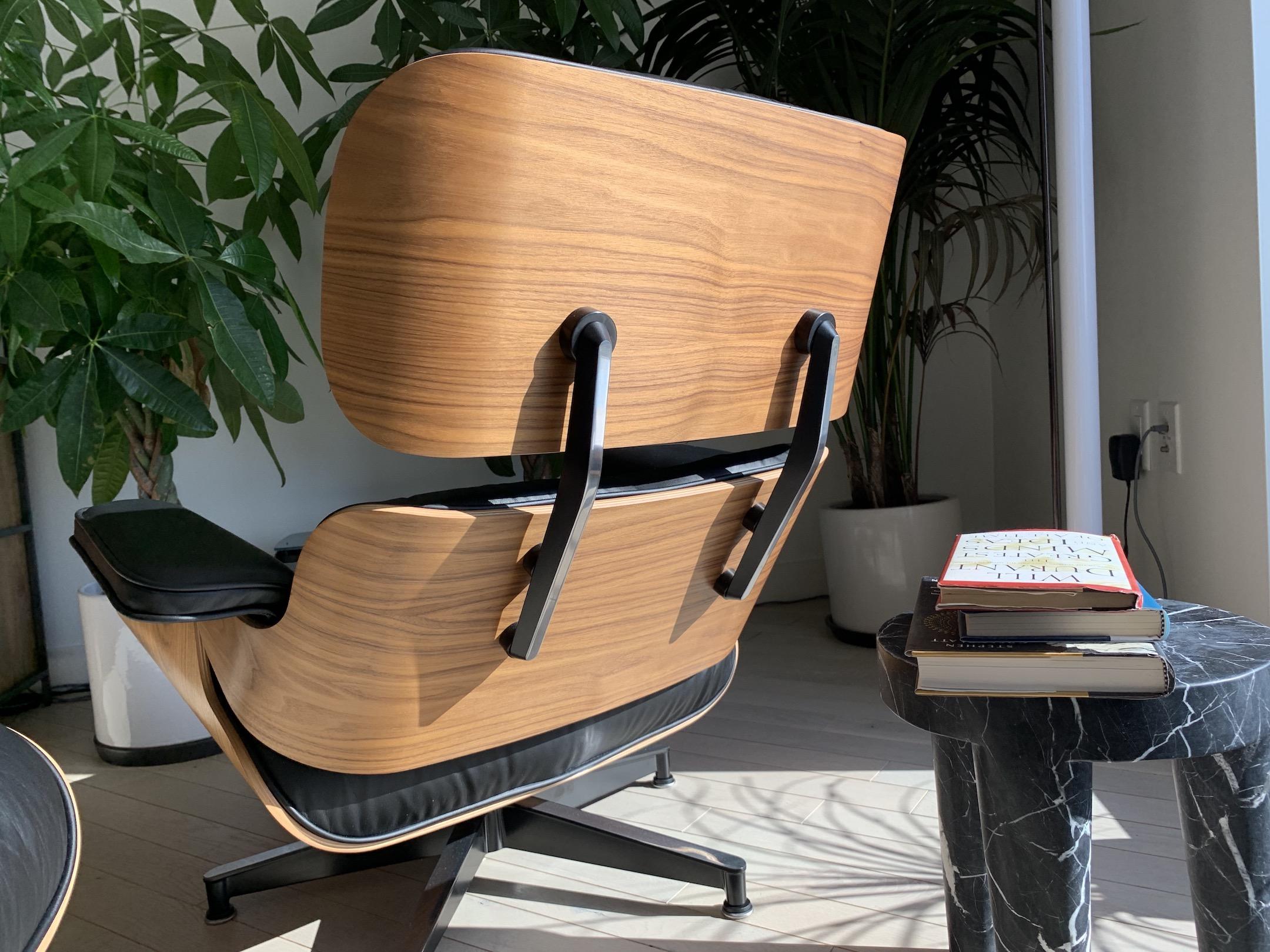 Black 2020 Herman Miller Eames Lounge Chair & Ottoman