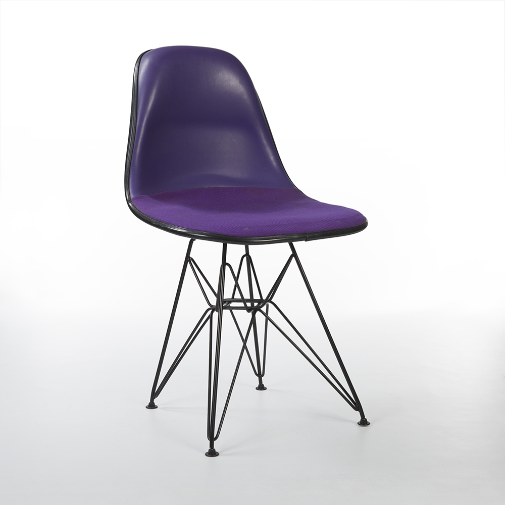 Purple 1980s Herman Miller Eames DSR Eiffel Side