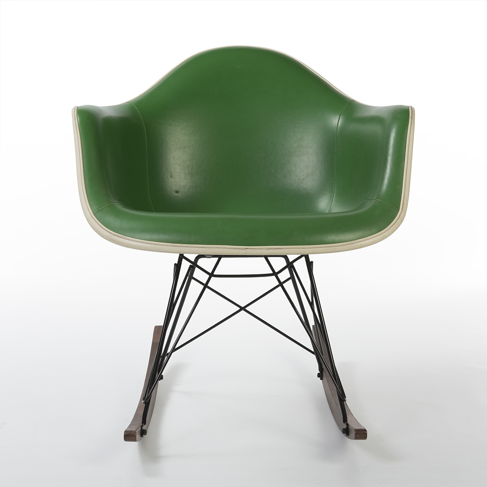 Green 1970s Herman Miller Eames RAR Rocking Arm