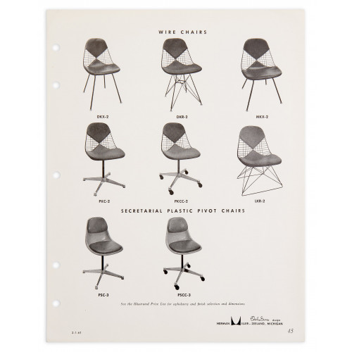 Herman Miller Wire Chairs - 1961