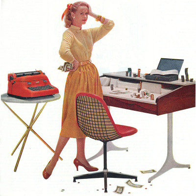 Vintage Herman Miller advert featuring the early PKC
