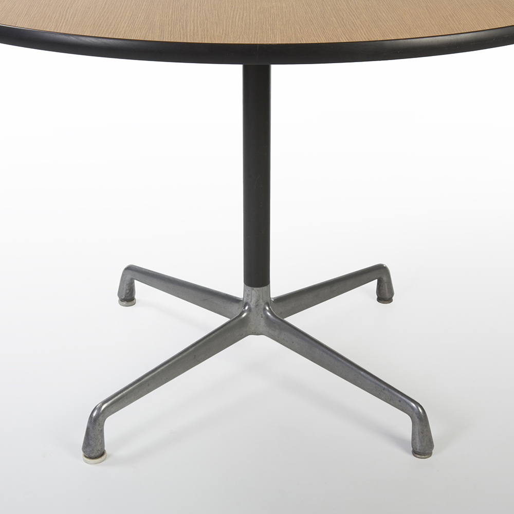 Wooden 1970s Herman Miller Eames Universal Base Dining & Work Tables