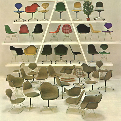 Iconic 60's Herman Miller multi chair vintage advert