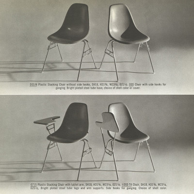 1961 Herman Miller Brochure Page With All DSS Models