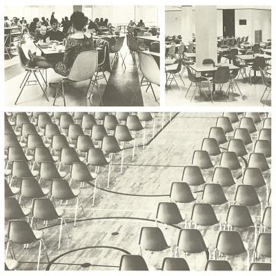 Original Herman Miller brochure advert detailing school and commercial installations
