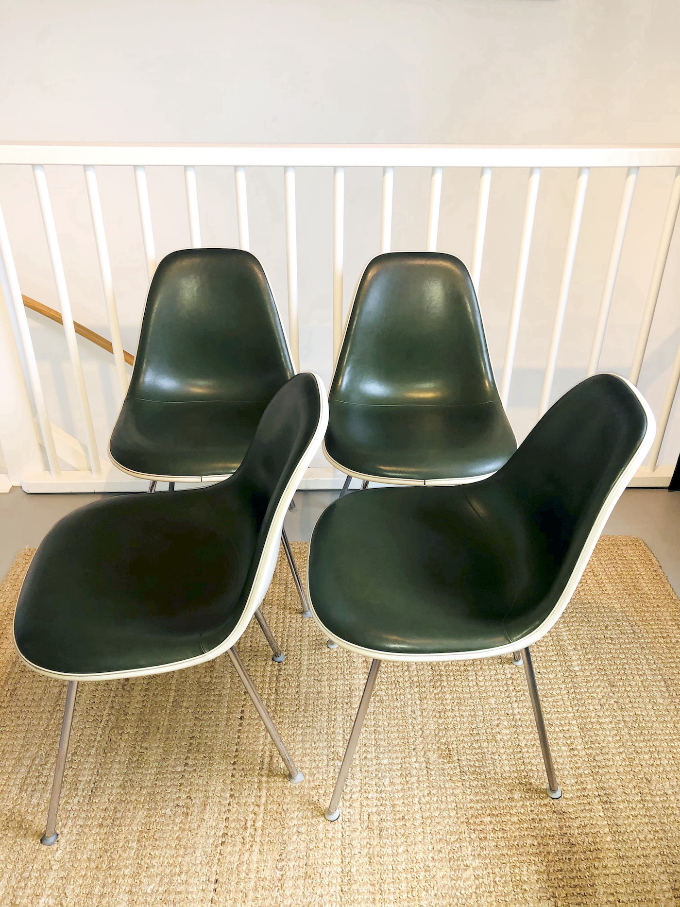 Green 1950s Herman Miller Eames DSX (& Variants) Side