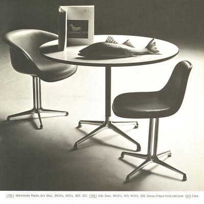 Original Herman Miller 1961 brochure page detailing La Fonda series