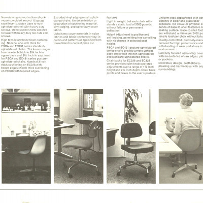 Original 1978 Herman Miller Brochure page featuring the EC228