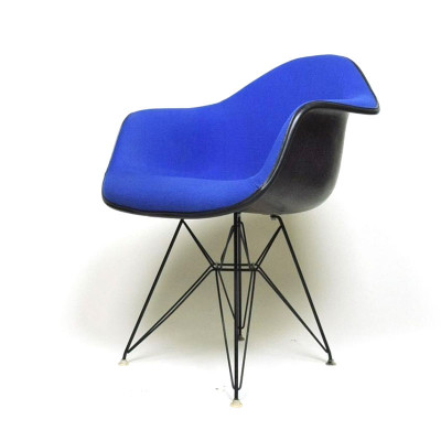 Upholstered 1970's Eames DAR arm chair (Image courtesy of D Rose Mod, Inc)