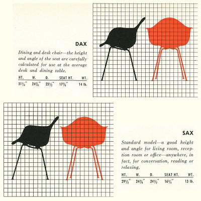 1952 Herman Miller Brochure DAX & SAX Specification Page