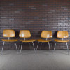 Wooden 1940s Evans Plywood Products Eames DCM - Ply Dining Chair Metal thumbnail